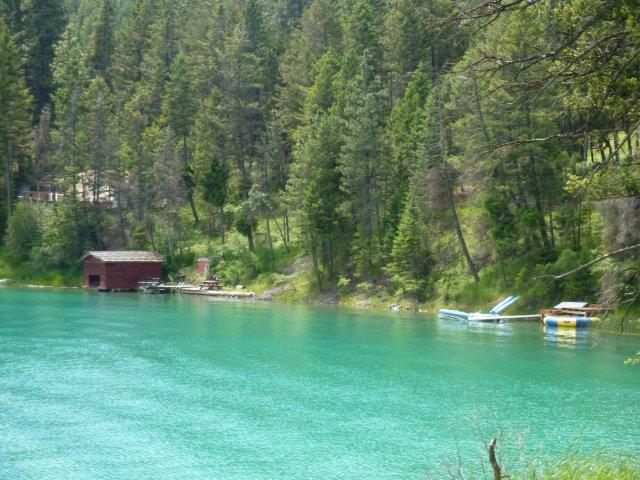 lake showing dock and water trampoline lots of private shore line and quiet - Lakefront Dream Home, Sleeps 15, 10 min to town - Whitefish - rentals