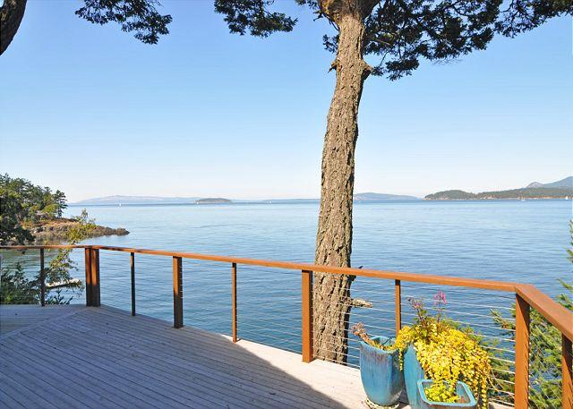 Looking NW from the deck. - Panorama Lodge on San Juan Island - Friday Harbor - rentals