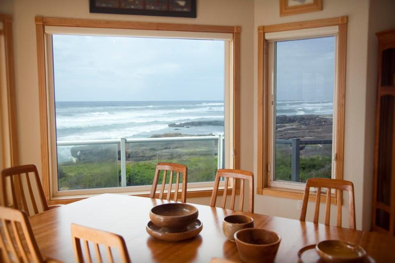 What a view from the Surfside House!  - Ocean Front Luxury Home Sleeps 12 - Yachats - rentals