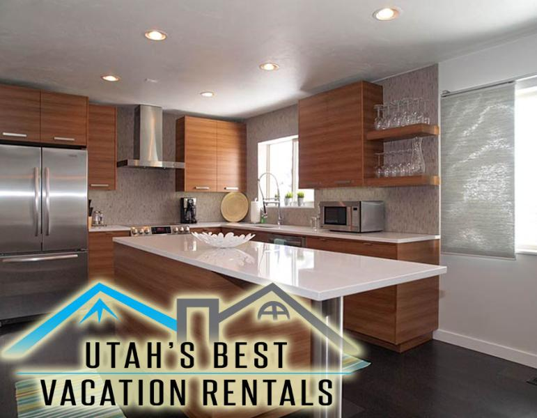 Gorgeous contemporary gourmet kitchen with island and deluxe appliances - Gorgeous Contemporary Millcreek Home *Mtn Views! - Salt Lake City - rentals
