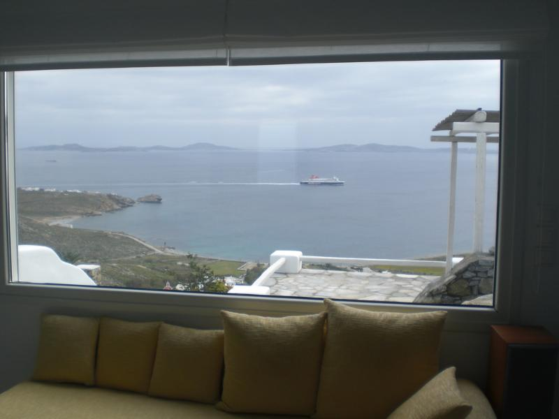 WINDOW VIEW - Mykonos Luxurious Apartment Amazing View  4 people - Mykonos - rentals