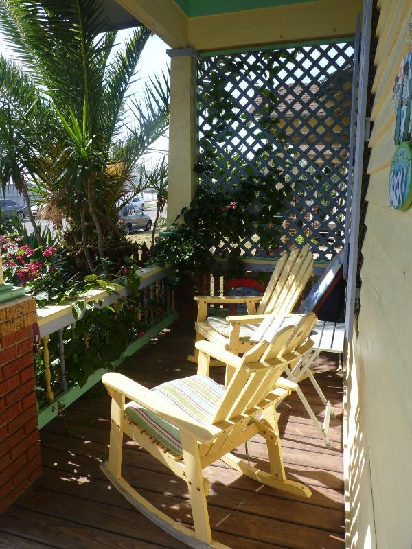 FRONT PORCH - Rental by the Pier - Galveston - rentals