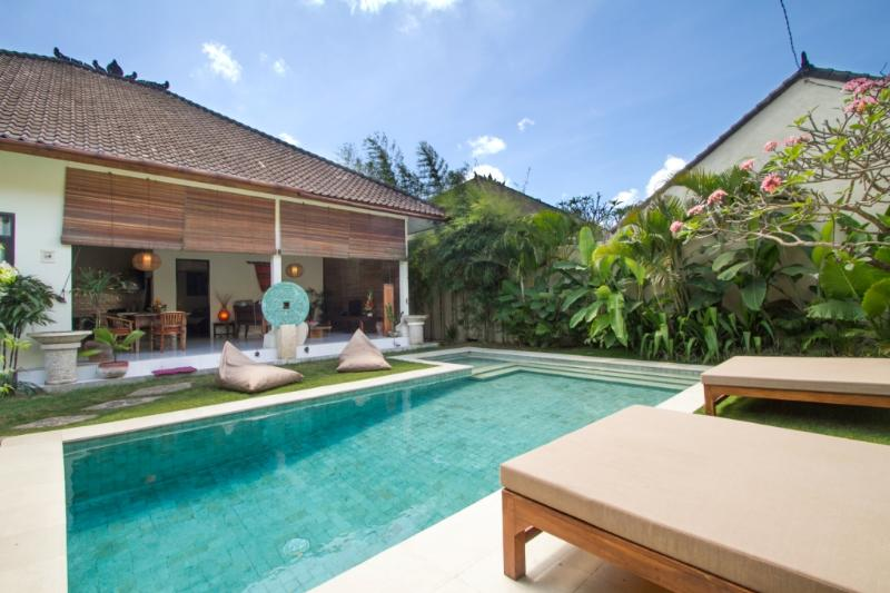 Garden, Pool & Relaxation. 8x3.5m Pool with kids paddling section - 2BDR Seminyak Budget Villa, 2min walk to Beach! - Seminyak - rentals