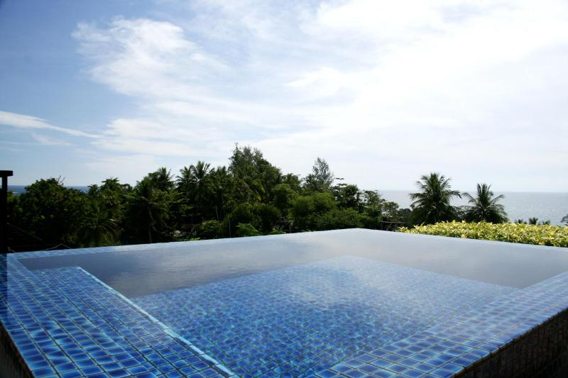 Top roof pool and garden with gorgeous view - Stunning Sea view penthouse, private pool (KG4C) - Kata - rentals