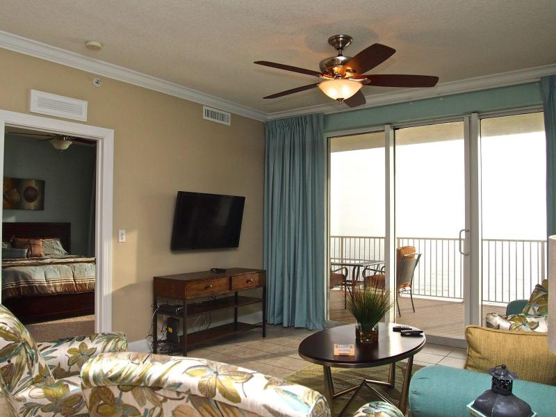 Living Area with beach view - Gorgeous New 2br Penthouse; Tropic Winds! Booking Spring & Summer now! - Panama City Beach - rentals