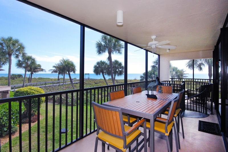 Lanai dining area - Sundial R206 has the view you come to Sanibel for! - Sanibel Island - rentals