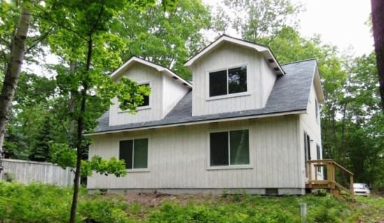 Front View - New Home on Big Platte Lake`s Birch Point - Honor - rentals