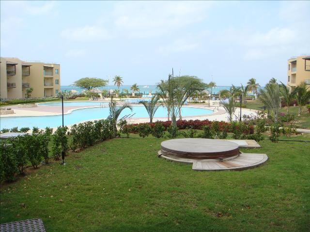 Fantastic pool AND ocean view from your private garden and patio! - View Garden Two-bedroom condo - A145 - Eagle Beach - rentals