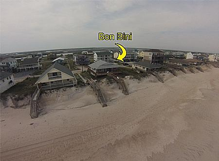 Bird's Eye View - Bon Bini, 232 Seashore Dr~~~Save up to $200!!~~~ - North Topsail Beach - rentals