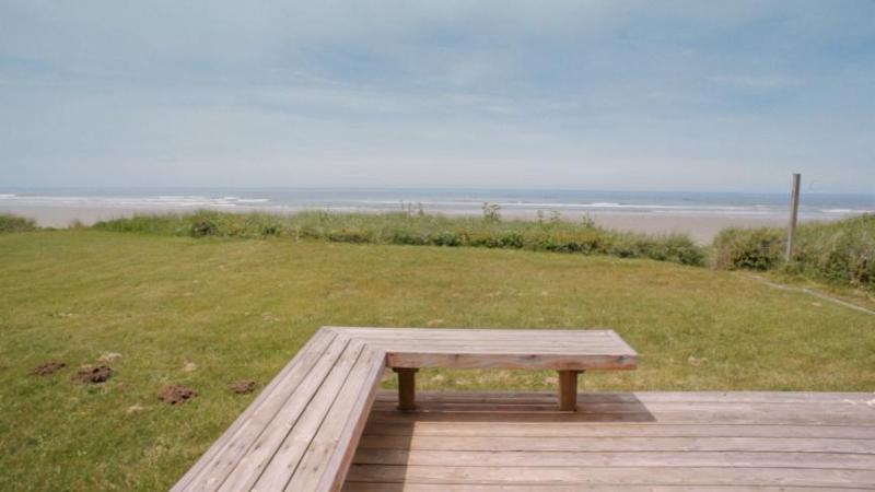 Private Deck with Ocean Front View - Ocean Front Home with Direct Beach Access Sleeps 6 - Yachats - rentals