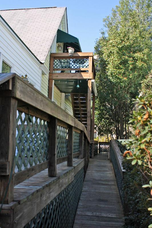 ENTRANCE FROM PARKING - Downtown Victorian Cottage - Aiken - rentals