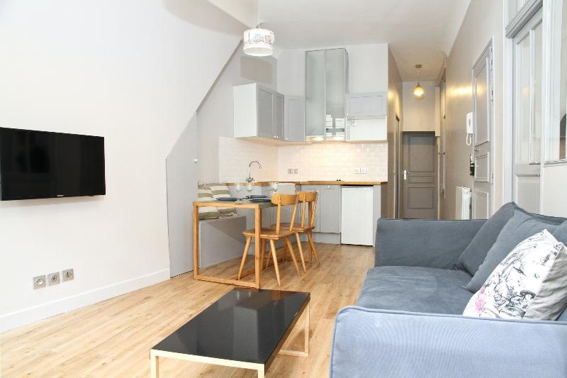 Sunny Living Room - 21. Steps from the Louvre – Sunny Balcony - 1st Arrondissement Louvre - rentals