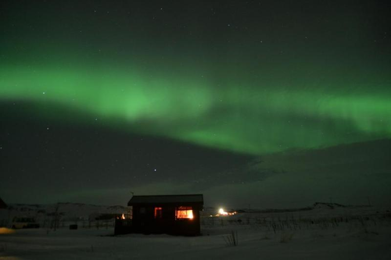 Northen lights at Kalastaðir - Cottage close to Reykjavik - breathtaking view - Akranes - rentals