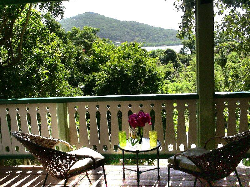 Covered Veranda - Cactus Flower Cottage- 1 Bedroom Peaceful Retreat - Fish Bay - rentals
