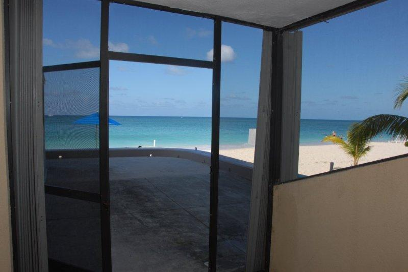 View from Condo  - Cayman Reef Resort #32 - Steps away from the Beach - Seven Mile Beach - rentals