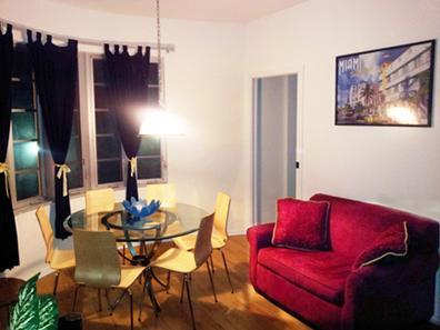 Living Room at Night! - 3Bed/2Bath $390 /nt-sleep 7 Beachfront apt #204 - Miami Beach - rentals
