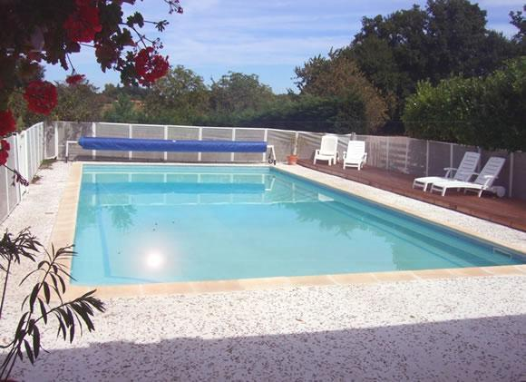 Pool Terrace - La Porcherie holiday gite for couples and families - Allemans - rentals