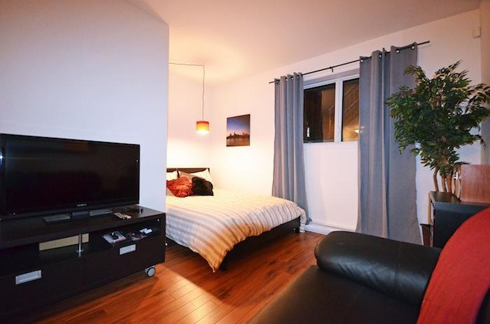 """Bed with a Memory Foam Mattress.  A Good Night sleep is certain! - Brand New """"Le Studio"""" center of Plateau Mont-Royal - Montreal - rentals"""