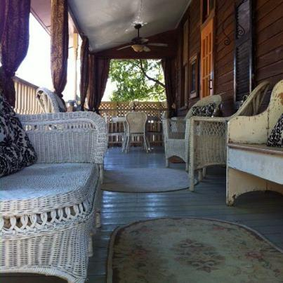The back porch is perfect for cocktails, dining or just reading and relaxing! - Isabella House of Natchez     ~ 601-660-4345 - Natchez - rentals