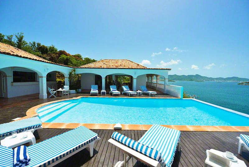 St. Martin Villa 62 Exceptional Views Of Simpson Bay, The Sparkling Caribbean Sea And The Islands Of Saba, St Eustatius And St. Kitts. - Image 1 - Terres Basses - rentals