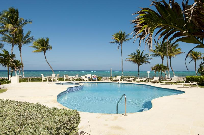 Pool  - Stunning 2 BR Beach Front Condo - West Bay - rentals
