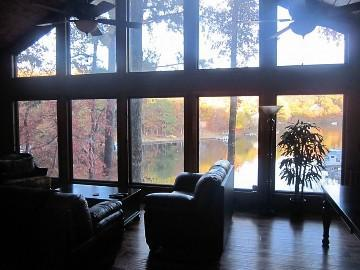 View of lake from gretroom - Lakefront home, theater, dock, swim-fish-boat - Waleska - rentals