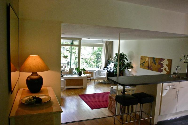 View to the split-level living room - Luxurious Apartment - Close to Everything - The Hague - rentals