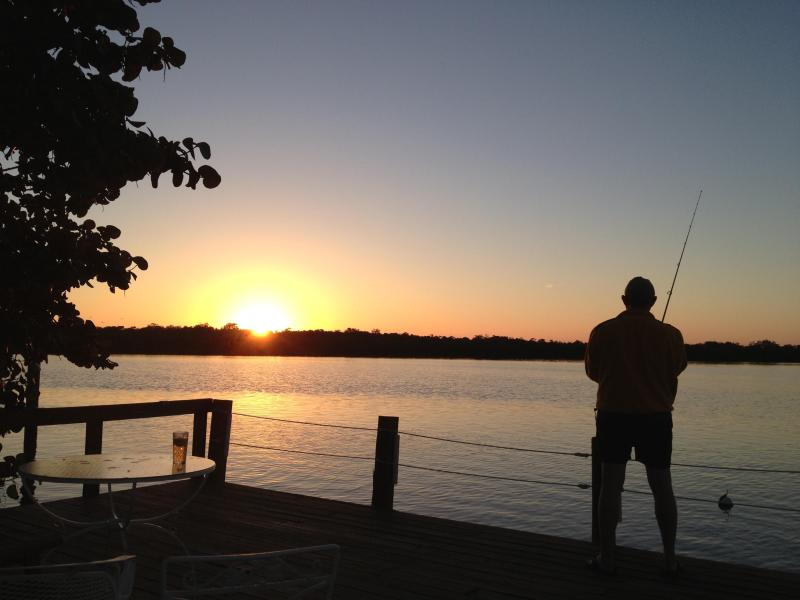 Fishing from Matlacha Cottages dock - Sunset at Matlacha Cottages-Pink Water Cottage - Matlacha - rentals