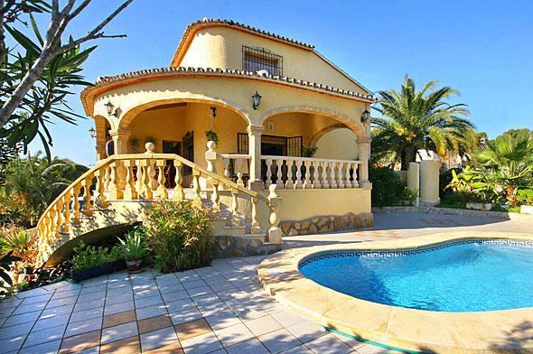Attractive holiday house for 8 persons, with swimming pool , in Moraira - Image 1 - La Llobella - rentals