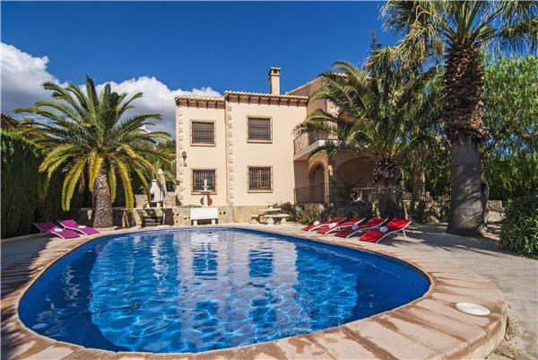 Attractive holiday house for 8 persons, with swimming pool , near the beach in Benissa - Image 1 - Benissa - rentals