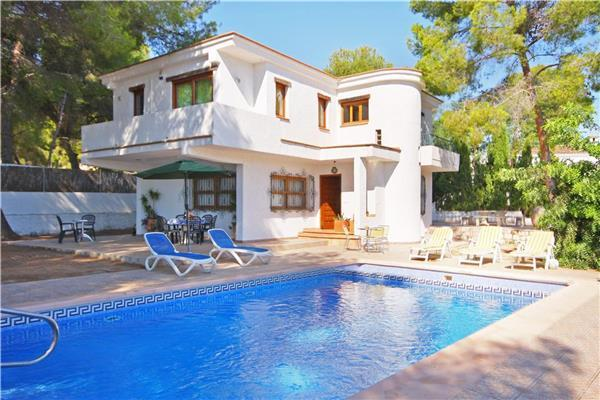 Attractive holiday house for 8 persons, with swimming pool , near the beach in Moraira - Image 1 - La Llobella - rentals