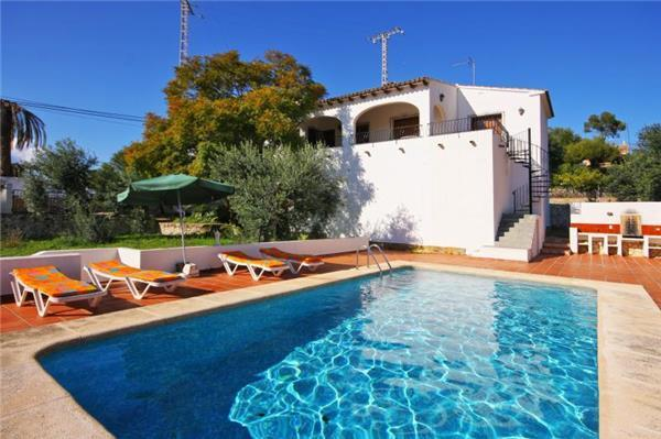 Attractive holiday house for 6 persons, with swimming pool , near the beach in Benissa - Image 1 - Benissa - rentals