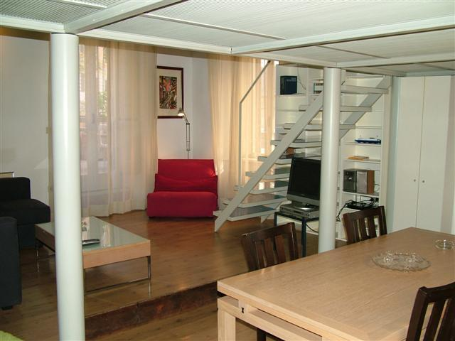 Living area - Cozy and modern studio apartment with loft area. - Rome - rentals