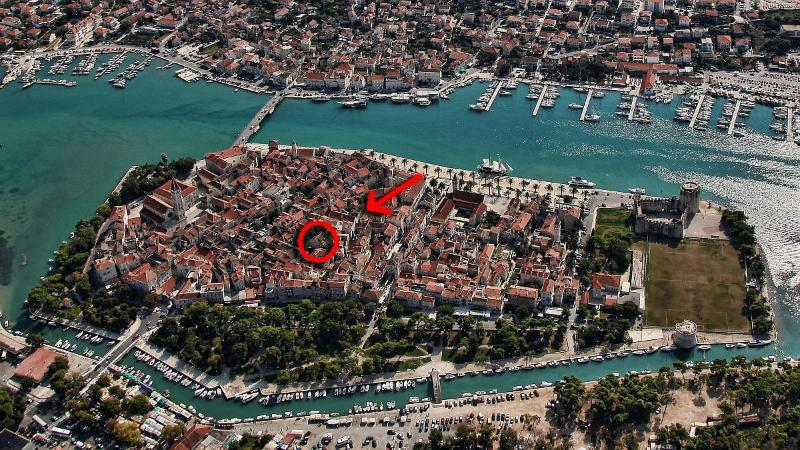 Borgoforte Studio in Center, private terrace - Image 1 - Trogir - rentals