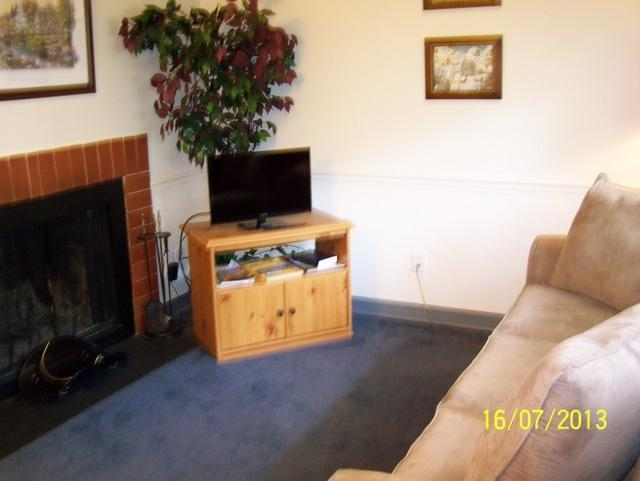 Living Room with Sleeper Sofa and HDTV - Oak Square - 1 Bedroom Condo (212) - Gatlinburg - rentals