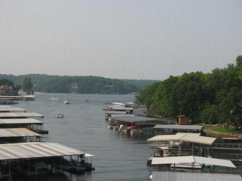 View of the cove and main channel from our balcony - Hotel Alternative - Waterfront Condo - Heron Bay - Osage Beach - rentals