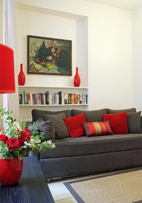 Living Room - Musee d'Orsay - Elegant 1-bedroom - 7th Arrondissement Palais-Bourbon - rentals