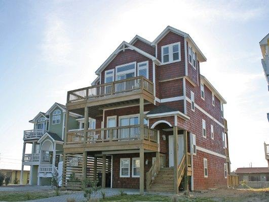 Exterior - Great Semi-Ocean Front, Elevator, all master bedrooms, private pool, hot tub, views! NH14 - Nags Head - rentals