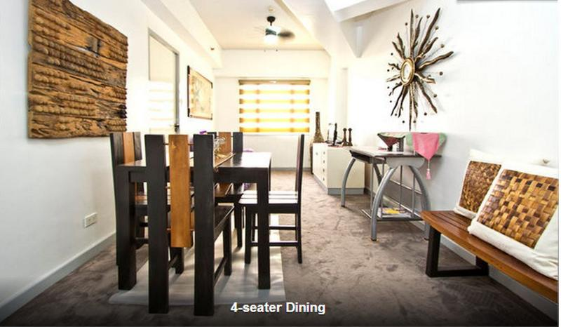 4 seater dining - Eastwood City Secured APT w/ Panoramic City View - Quezon City - rentals