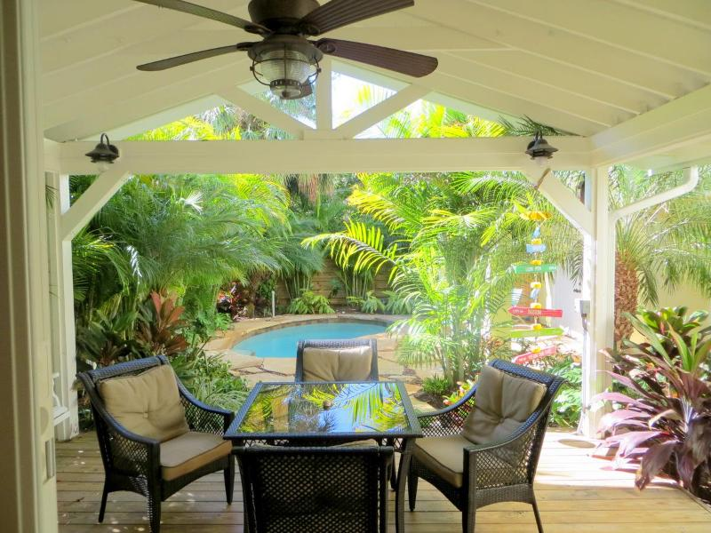 Patio and pool area - A Time Out - Anna Maria - rentals