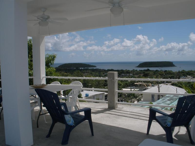 View from the covered pavilion area of the 3rd floor roof deck - Casa Paso Fino - Vieques - rentals