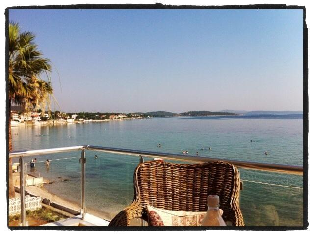 Breakfast on balcony, what a view! - Buckingham Villa By The Sea - Direct Sea Front Exquisite Turkish Rental - Urla - rentals