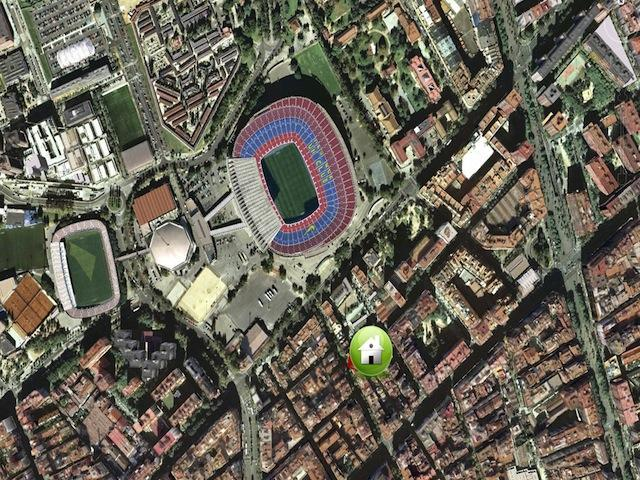 Map - Apartment Near Barcelona FC Stadium. - Barcelona - rentals