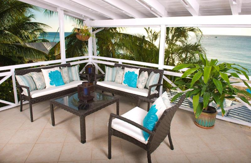 Spacious deck with fabulous views - Bora Bora Upper: Chic Beachfront Apartment - Paynes Bay - rentals