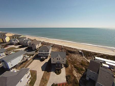Art's Place Bird's Eye View - Art's Place, 808 N Topsail Dr. - Surf City - rentals