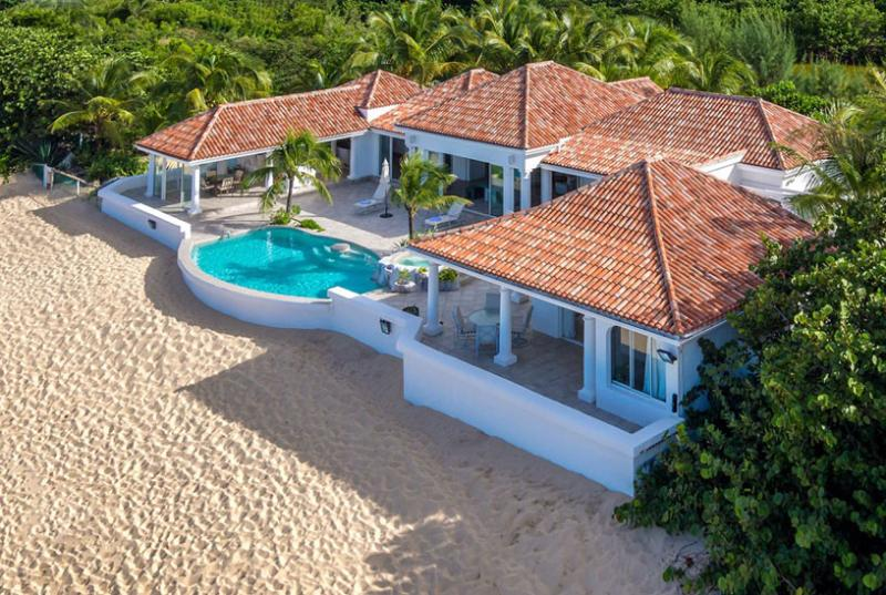 St. Martin Villa 12 Located Directly On Baie Rouge Beach, This House Is A Gorgeous Mix Of Contemporary Styling And Caribbean Relaxation. - Image 1 - Terres Basses - rentals
