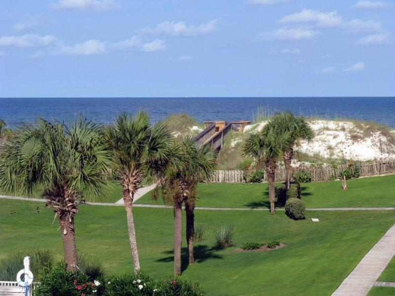 "Gulf view from the 3rd floor screened porch  - SPECIAL! - ""A Beach Break"" Pool,Pets,Free WiFi&LD - Cape San Blas - rentals"