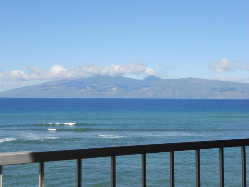 View of Molokai from Oceanfront Lanai - Royal Kahana Resort, 10th Floor Oceanfront! - Lahaina - rentals