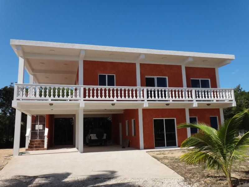 Front of the Home and Apartment - Coral House - Corozal Town - rentals