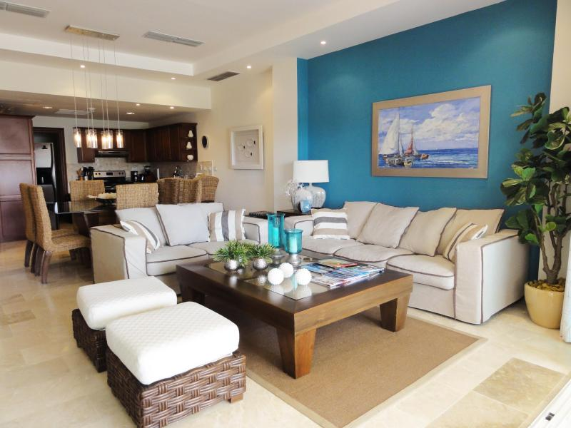 Family Living Room - Cap Cana Marina Waterfront Condo, a Second Home!!! - Punta Cana - rentals